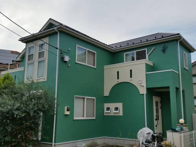 神奈川県横須賀市 外壁塗装・屋根塗装・水切り取付アフター写真