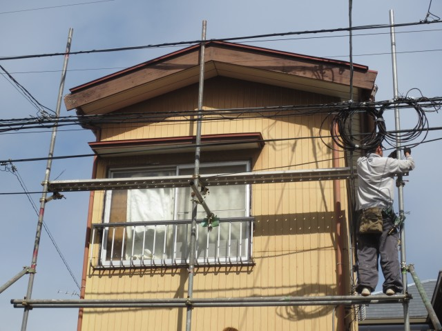 東京都葛飾区 外壁塗装・屋根塗装・板金工事ビフォア写真