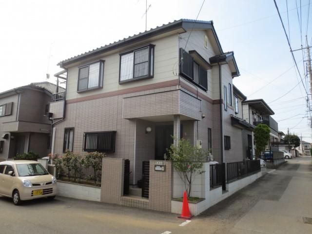 埼玉県上尾市 外壁塗装・シーリング工事ビフォア写真