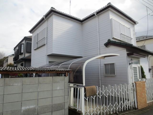 千葉県柏市 外壁塗装・屋根塗装ビフォア写真