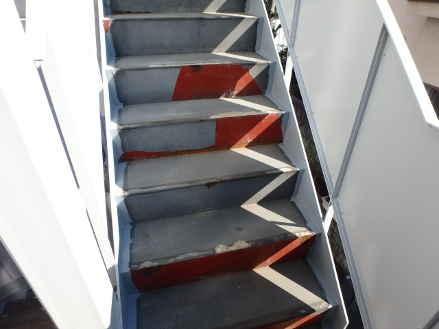 東京都板橋区 マンション長尺シート工事ビフォア写真