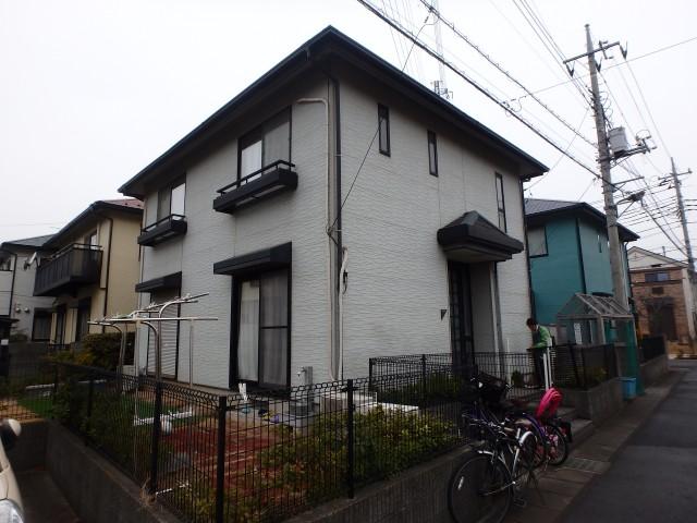埼玉県草加市 外壁塗装・屋根塗装・シーリング工事・雪止金具取付ビフォア写真