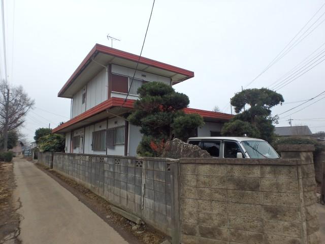 茨城県坂東市 外壁塗装・屋根塗装・雨樋交換・付帯工事ビフォア写真