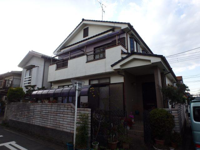 埼玉県川越市 外壁塗装ビフォア写真