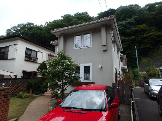 神奈川県鎌倉市 外壁塗装ビフォア写真