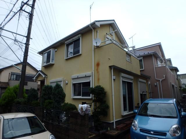 神奈川県伊勢原市 外壁塗装ビフォア写真
