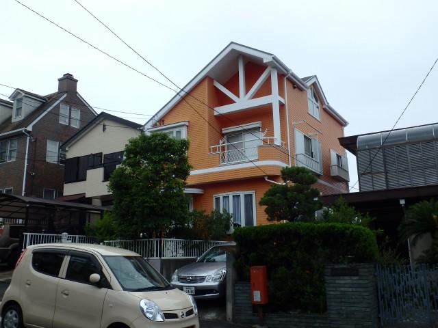 神奈川県横須賀市 外壁塗装・屋根塗装ビフォア写真