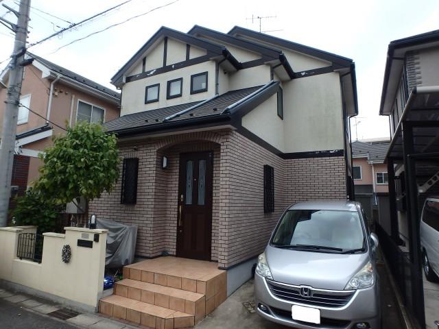 千葉県松戸市 外壁塗装・屋根塗装ビフォア写真
