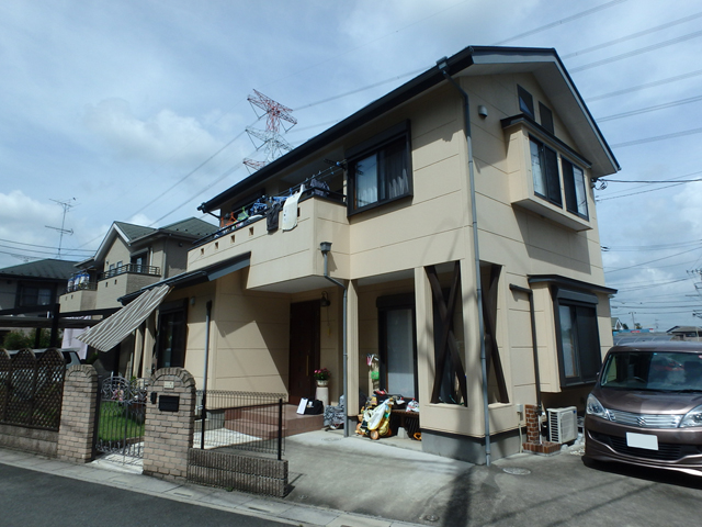 埼玉県鶴ヶ島市 外壁塗装・屋根塗装ビフォア写真