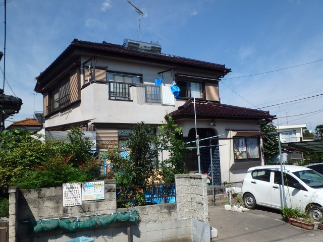 埼玉県幸手市 外壁塗装・バルコニートップコートビフォア写真