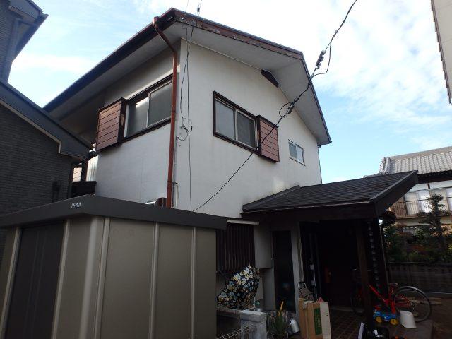 埼玉県蓮田市 外壁塗装・屋根塗装・大工補修工事ビフォア写真