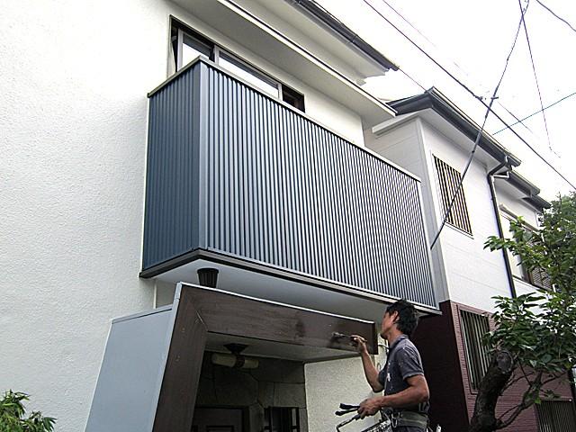 東京都中野区 外壁塗装・バルコニー改修・サッシ交換他アフター写真