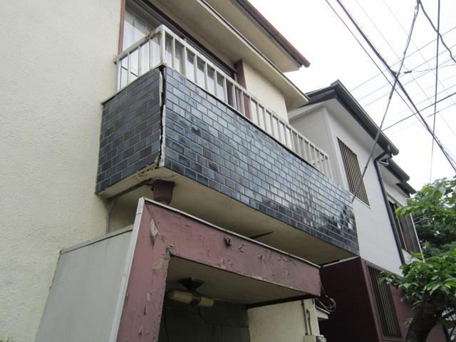 東京都中野区 外壁塗装・バルコニー改修・サッシ交換他ビフォア写真